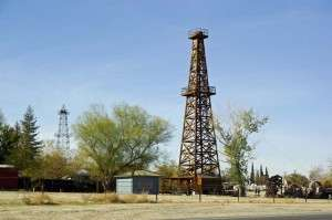 Old time oil derricks © Ken Rodgers 2014